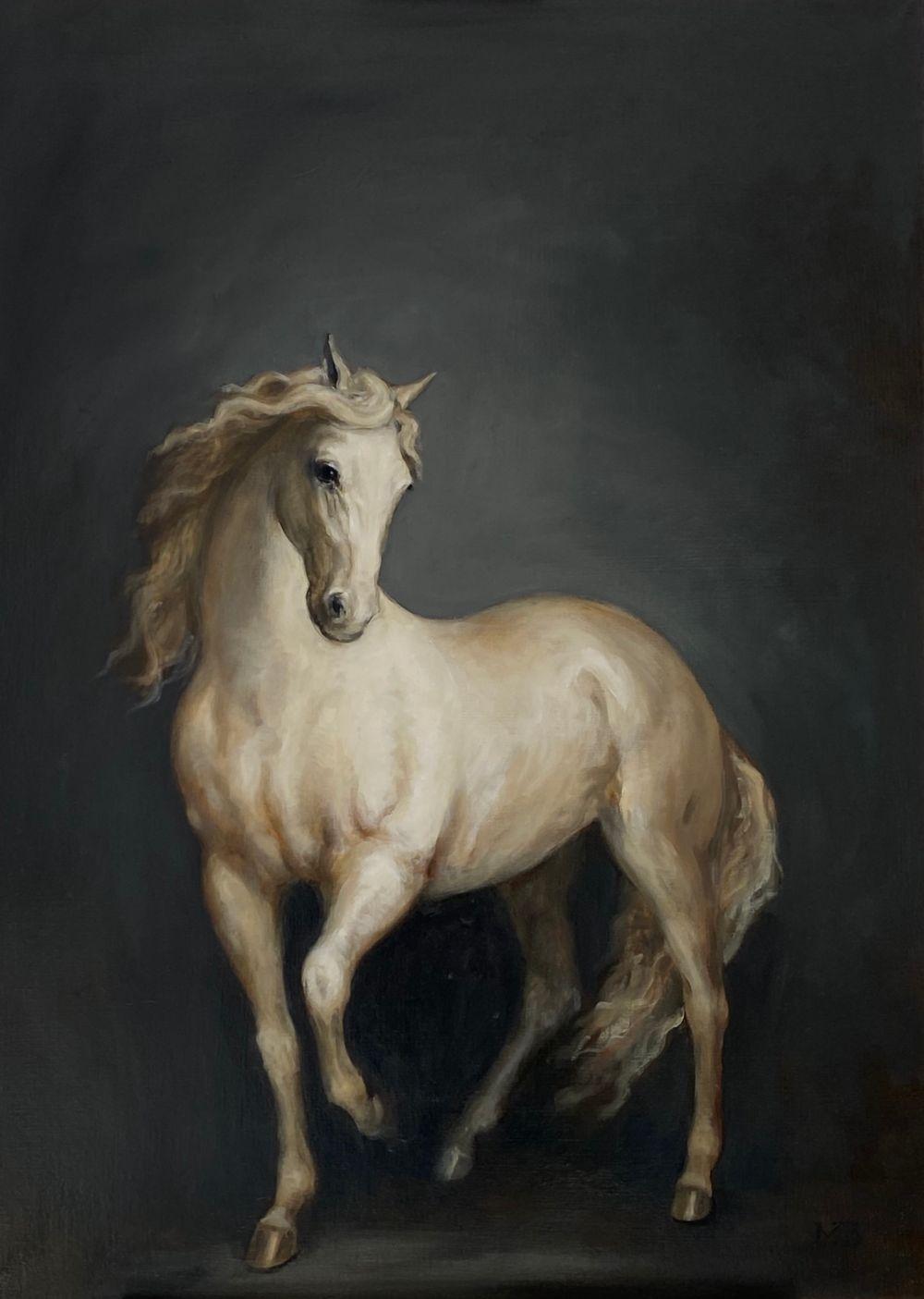 White Horse on Slate