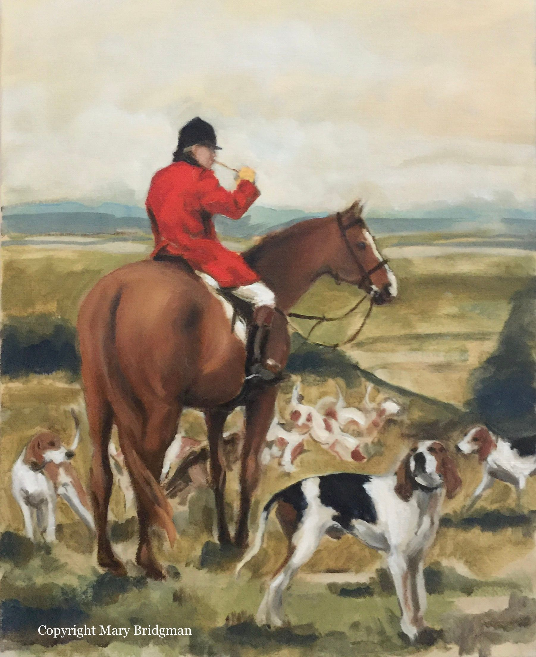 Huntsman with the Millbrook Hounds