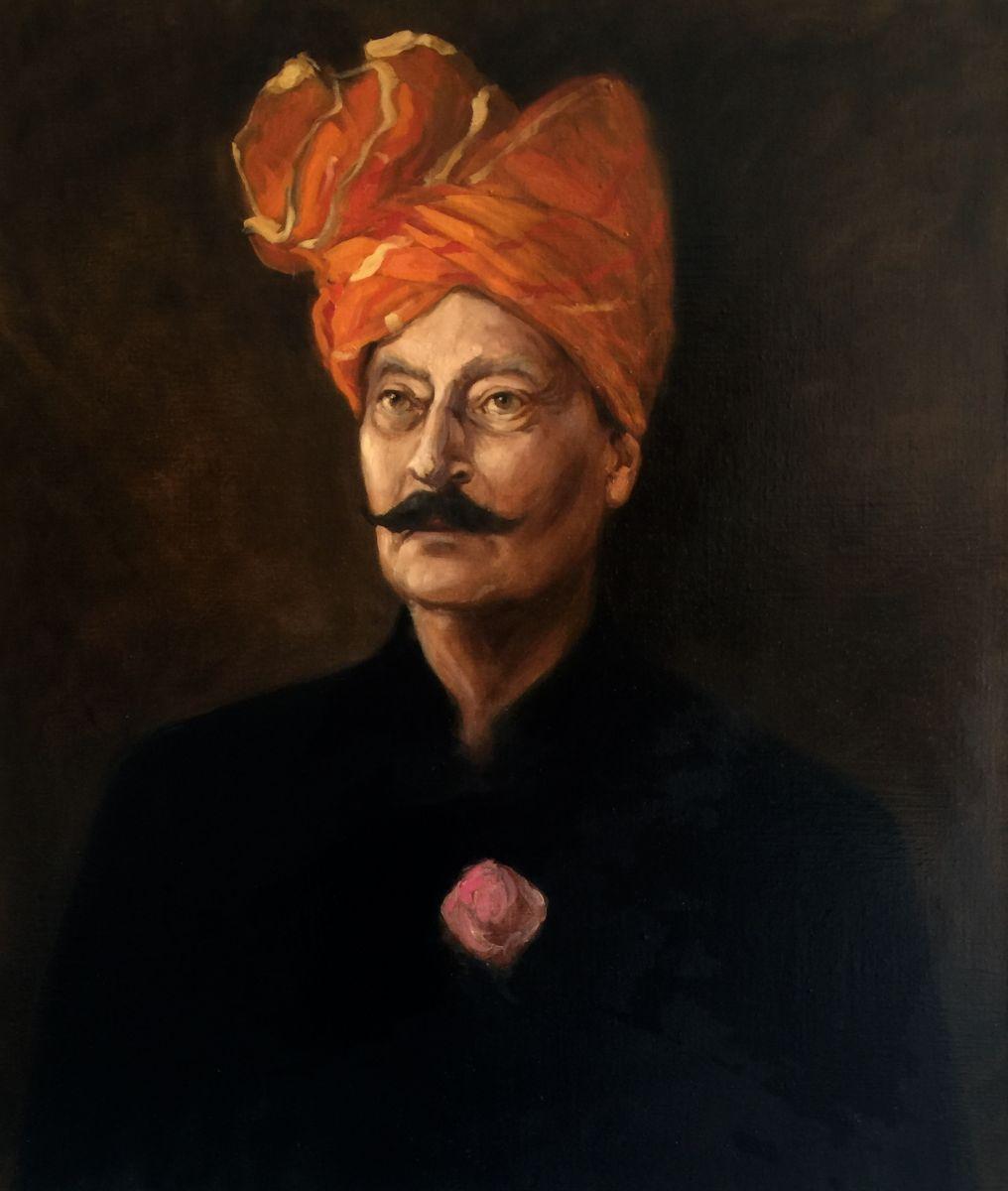 Portrait Study of a Man in a Turban