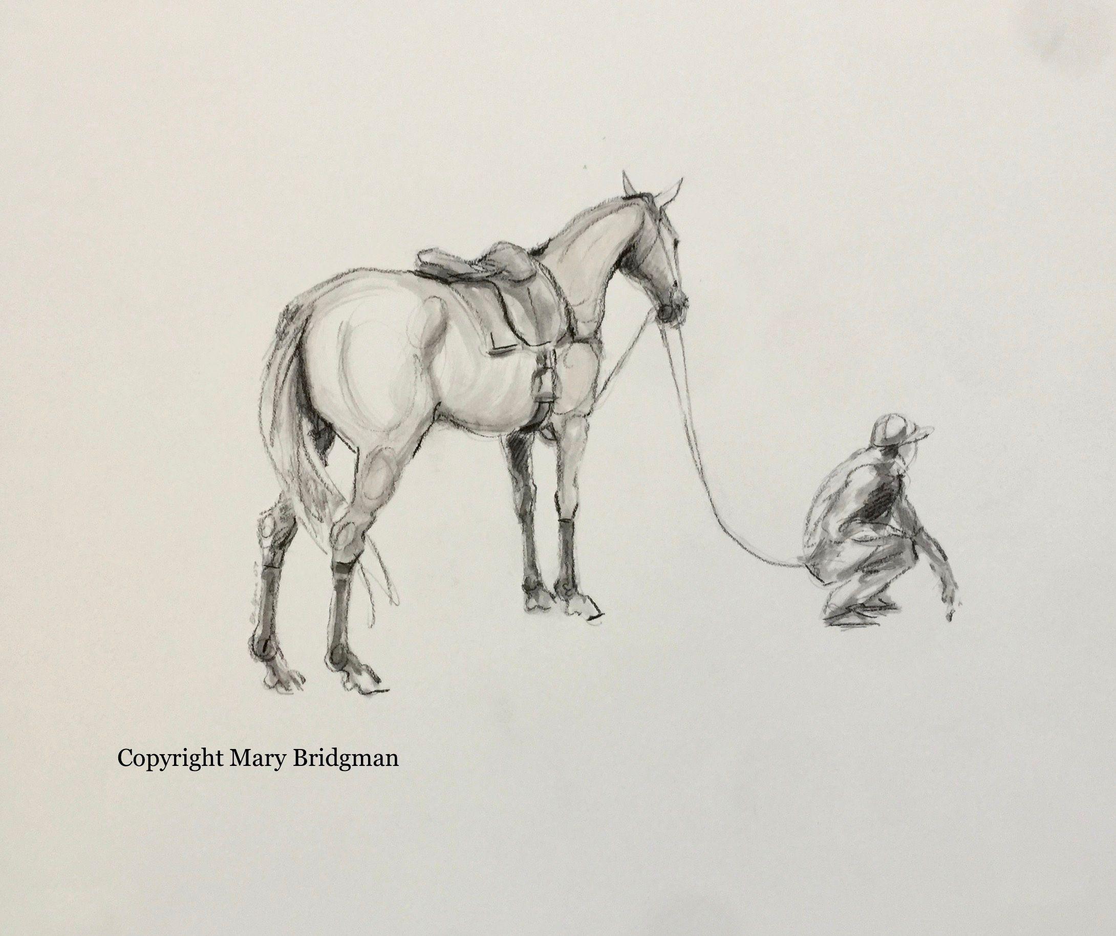 Polo Pony With a Groom