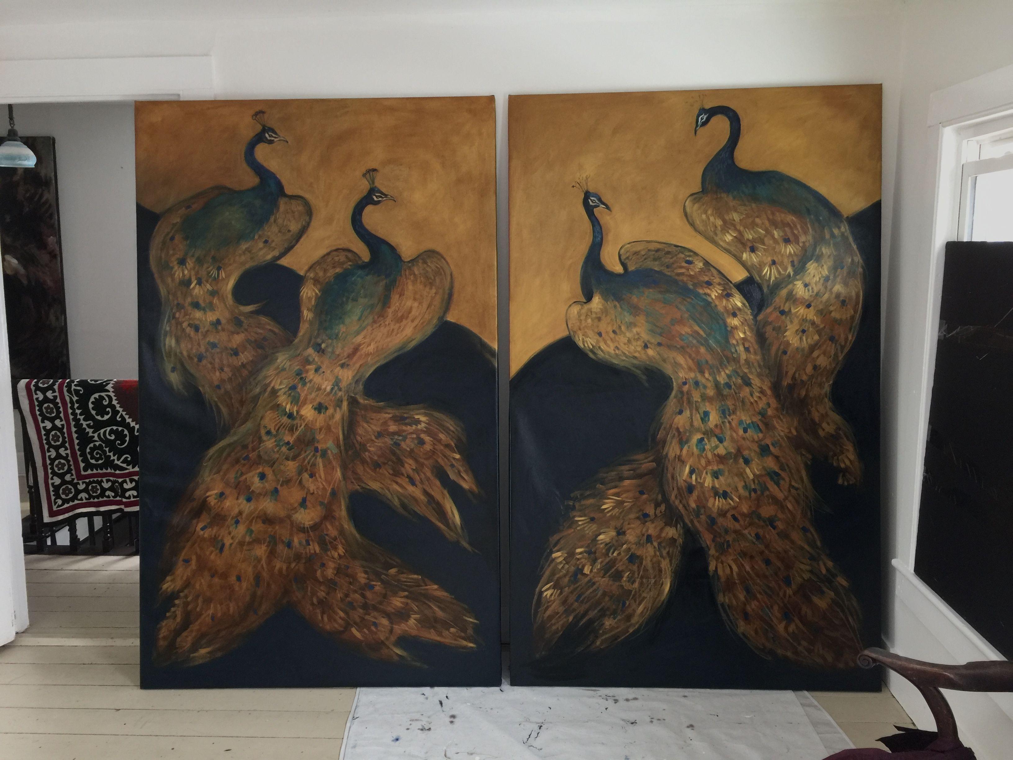 Peacock  Screens-Work in Progress