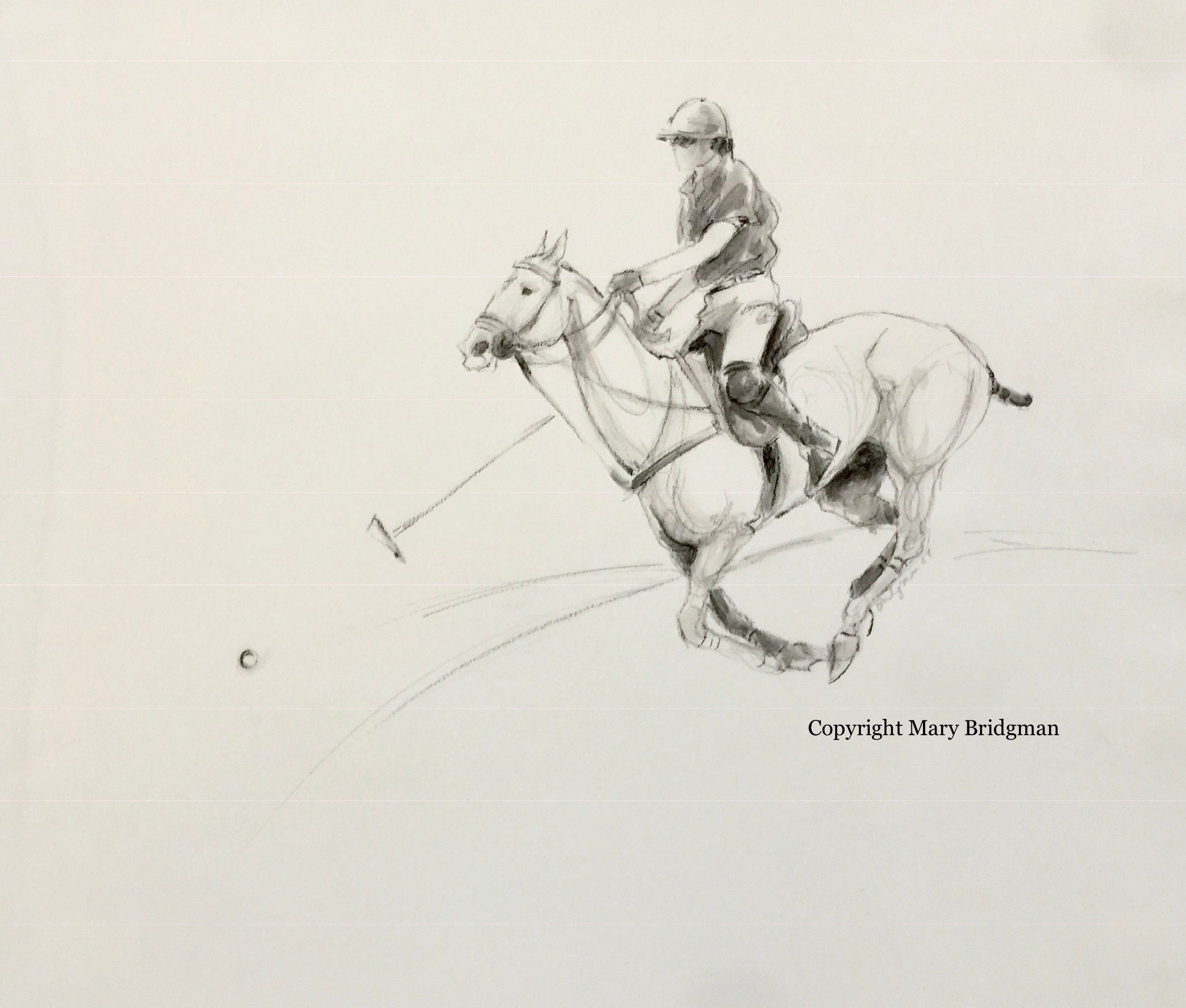 Polo Player chasing the Ball