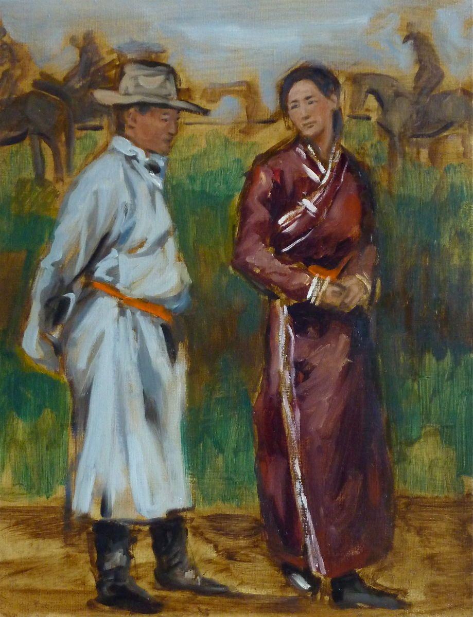 Mongolian Man and Woman