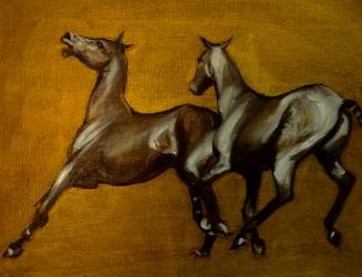 Golden Polo Ponies