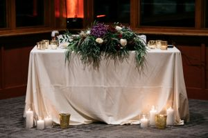 Sweetheart Table Flowers and Candles