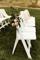 Wedding Aisle Chair Flower Arrrangement