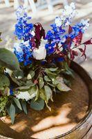 Close up focused wedding flowers
