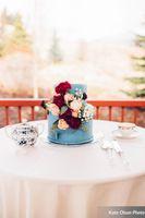Dusty Blue Cake