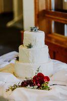 Mountain Icing Wedding Cake