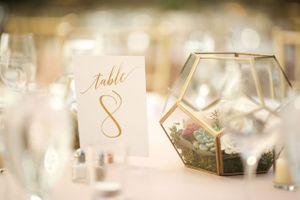 Wedding Hexagon Centerpiece
