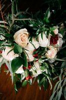 Close up of bride bouquet flowers