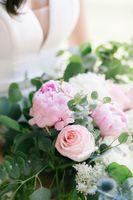 Close up of bridal bouquet flowers