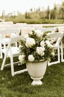 Potted Wedding Ceremony Flowers