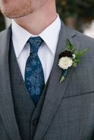 Grooms Winter Boutonniere in the Park City Mountains