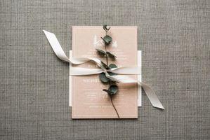 Wedding Invitations with Eucalyptus