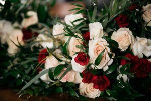 Wedding flowers in bouquets