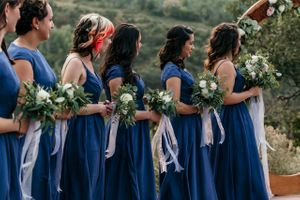 Wedding Ceremony Bridesmaids Line