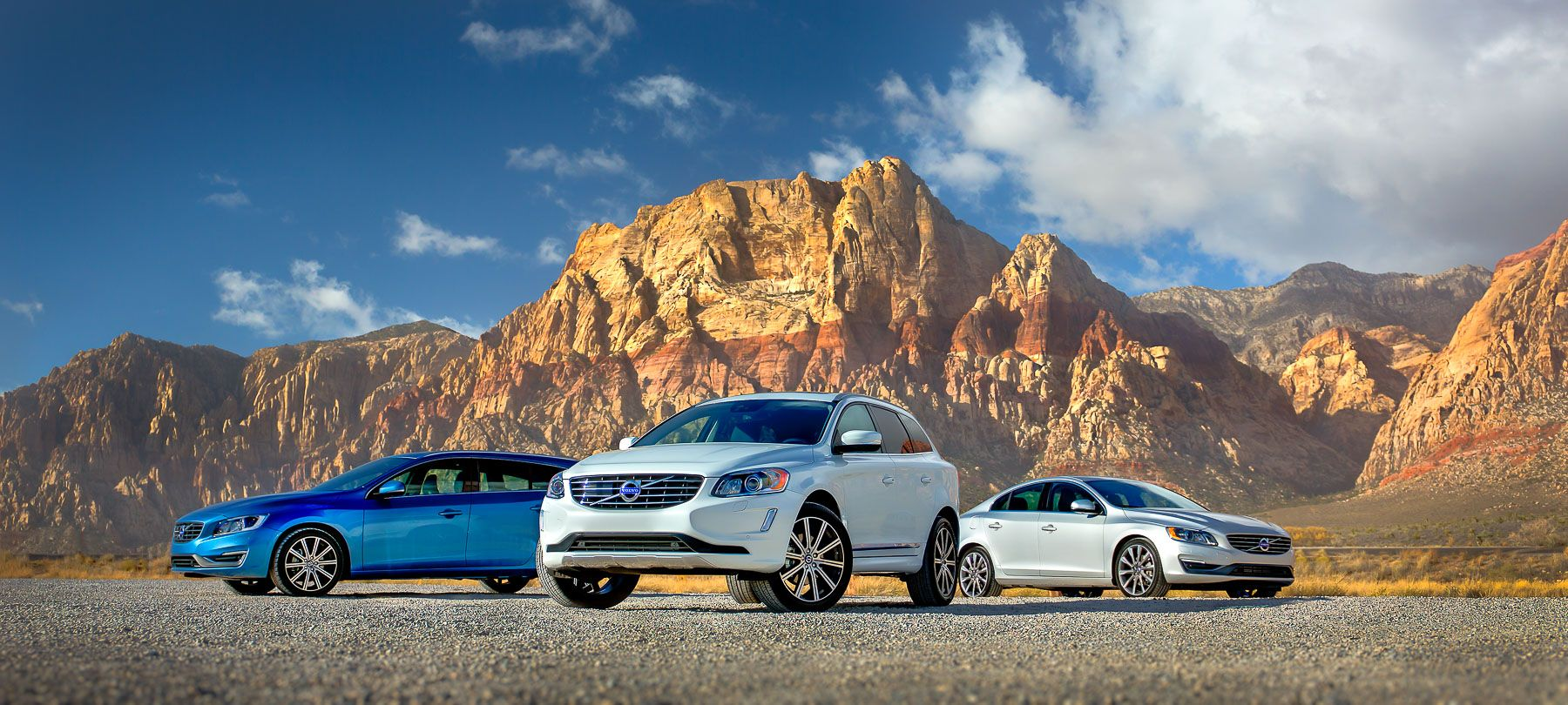 Volvos, outside Las Vegas