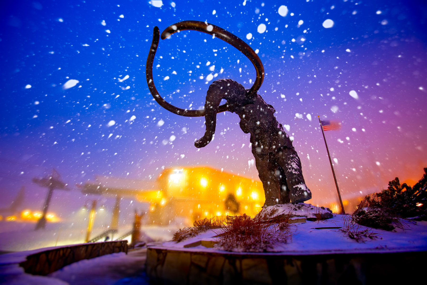 Mammoth in a Snowstorm