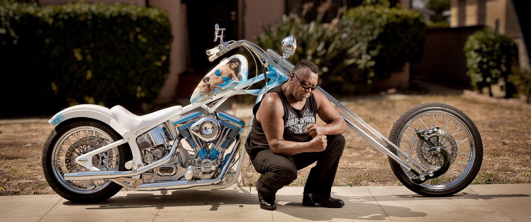 Mr. Chop & his new bike