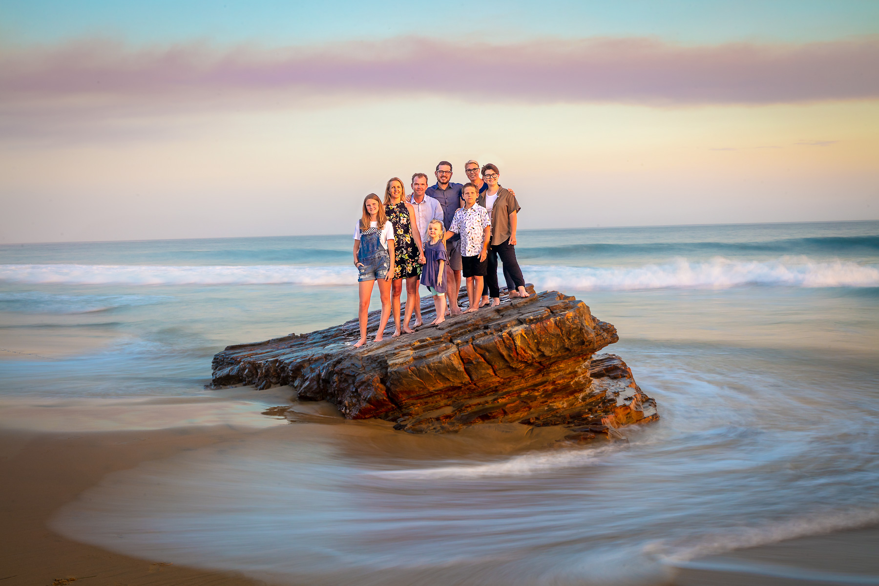 Family on a Rock