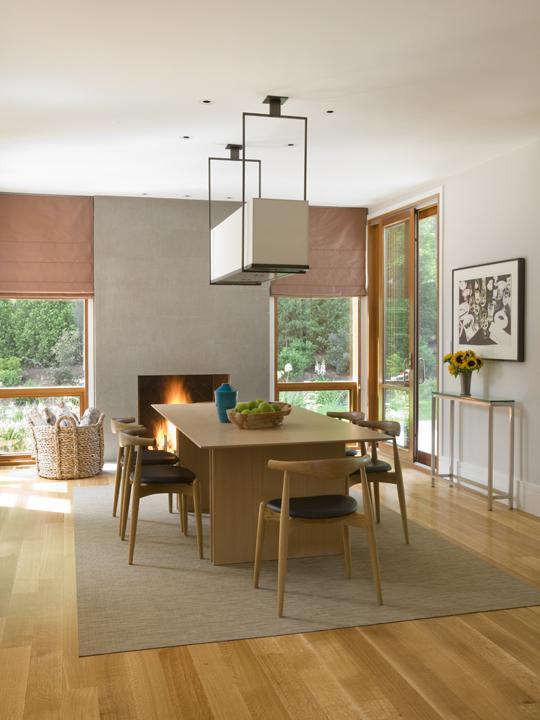 Modern Boston area dining room