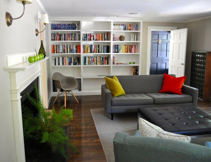 Modern living room, Lincoln, MA