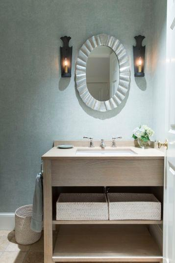 Custom Powder Room Wellesley