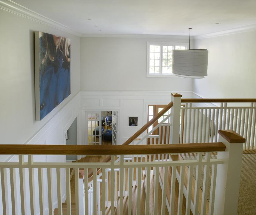 White woodwork foyer