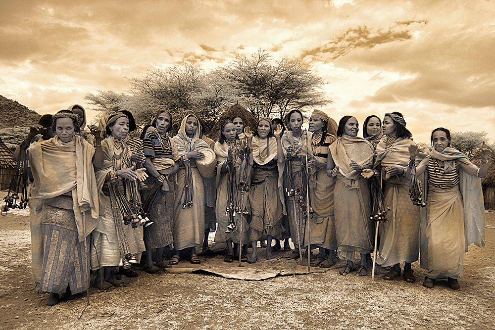 Borana Tribe woman singing