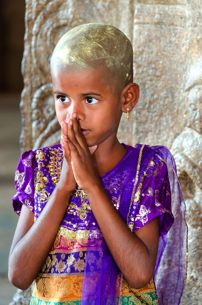 Girl at Madurai temple