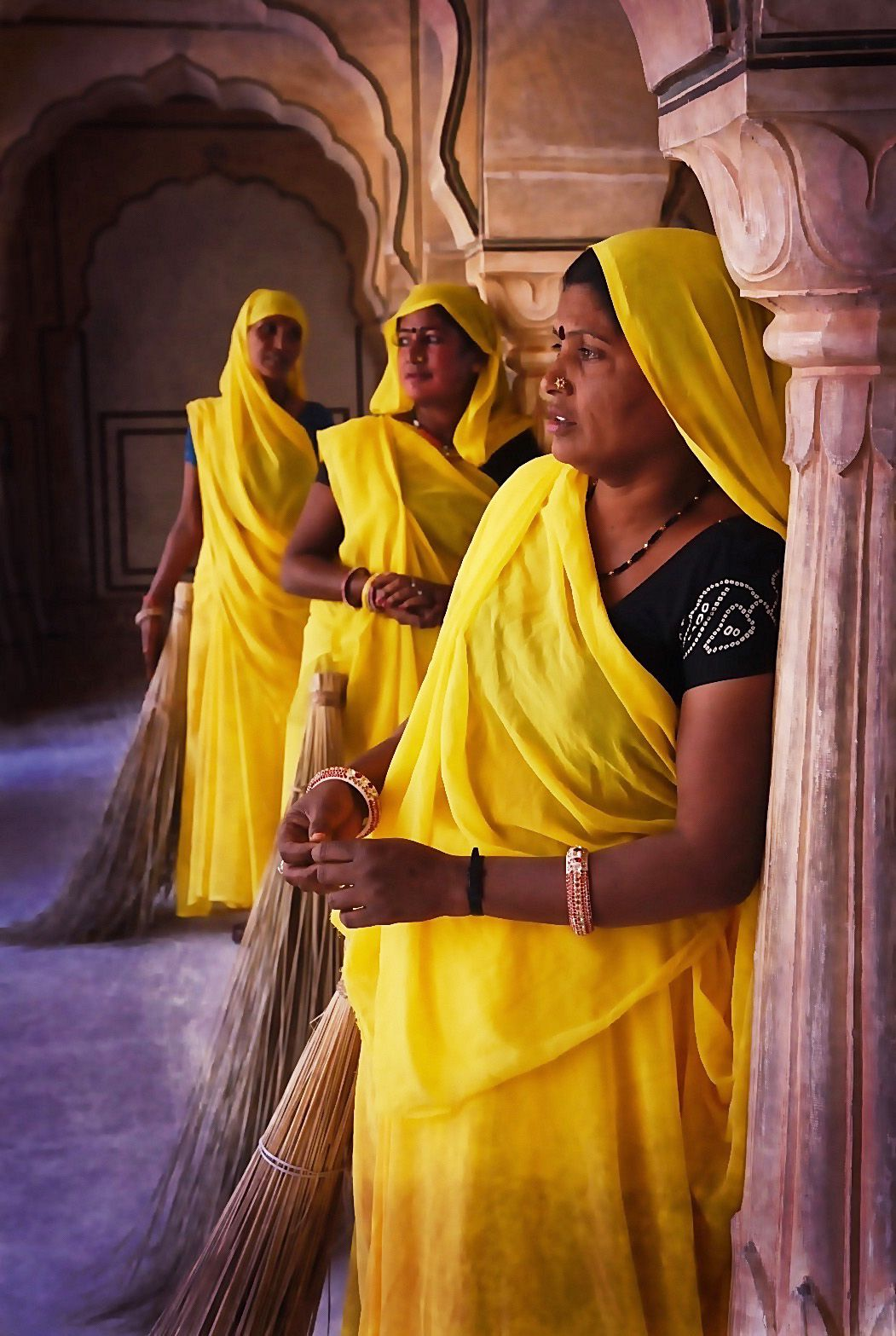 Sweepers at the Red Fort