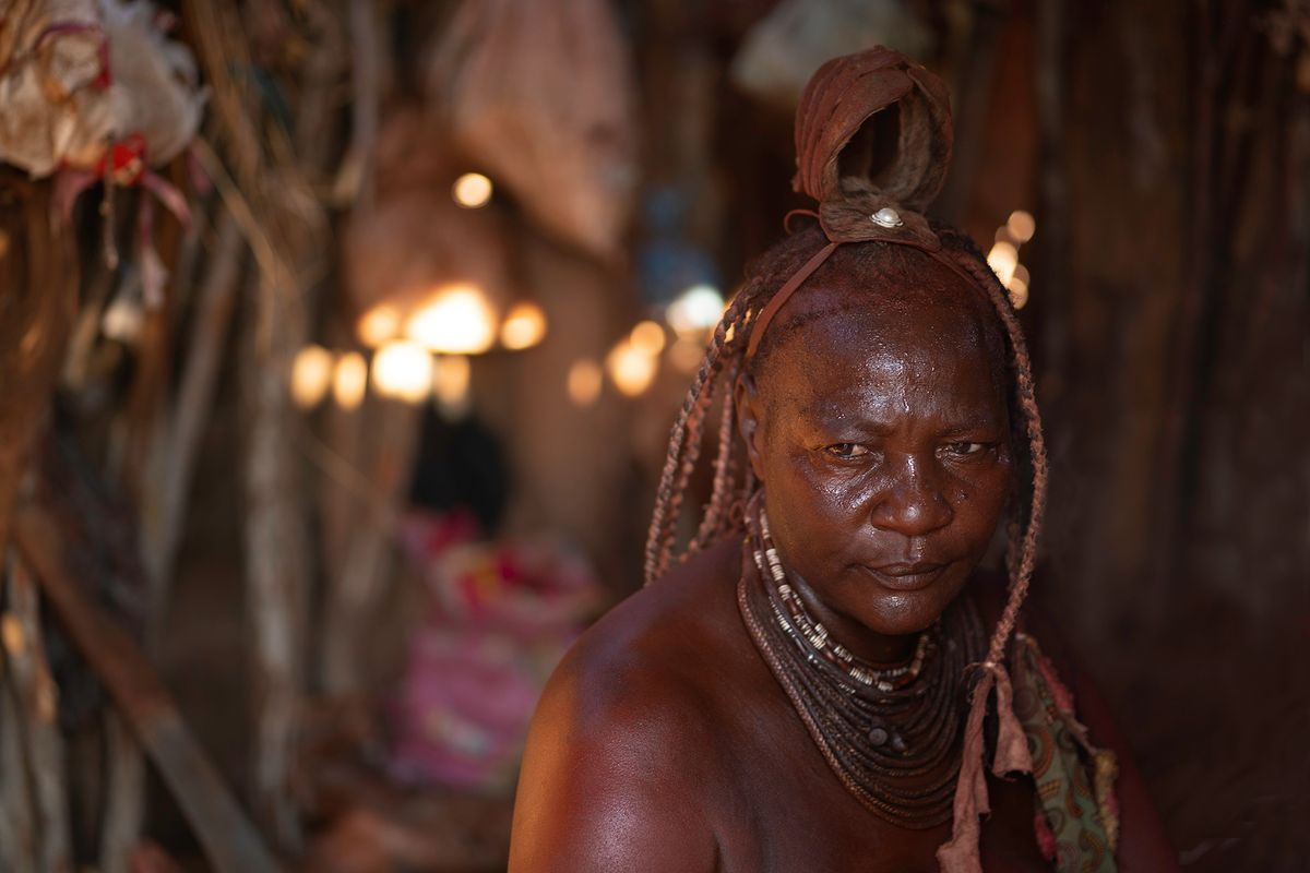 Himba Woman in her Hut