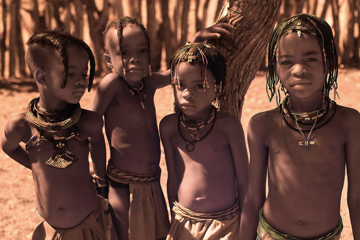 Young tribal boys