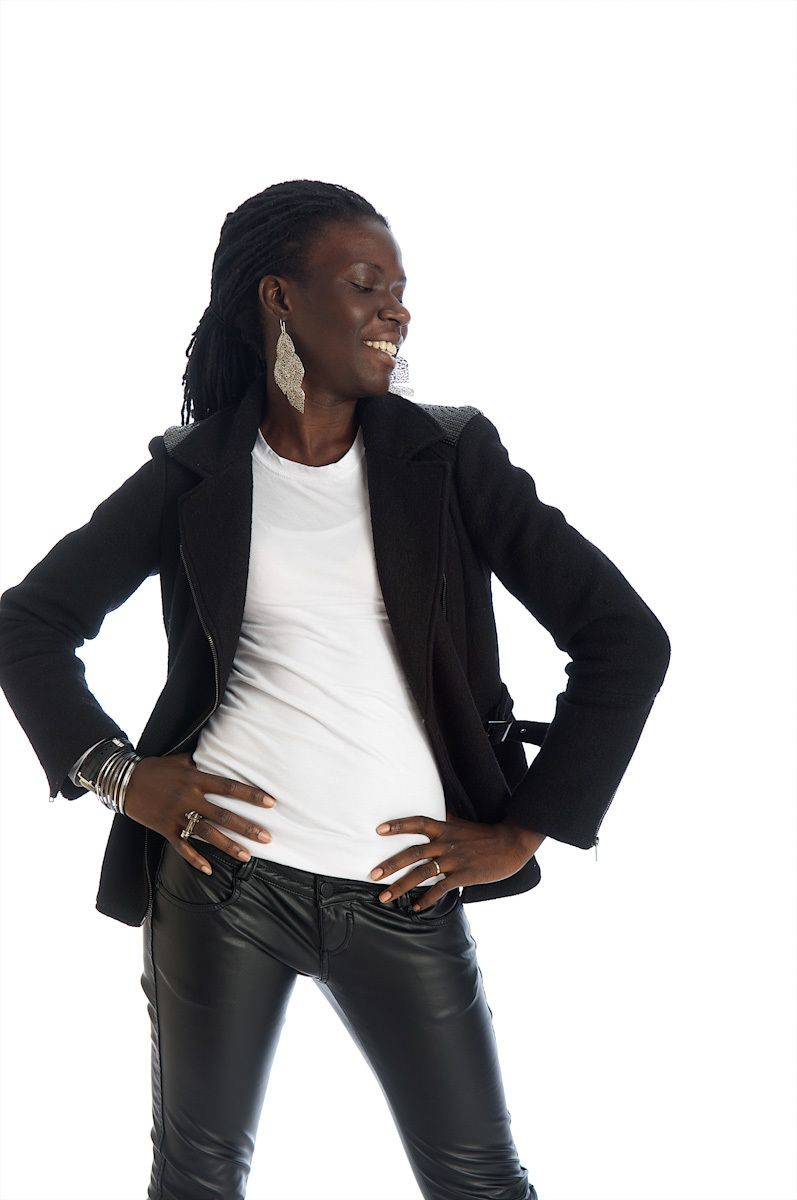 black woman model stock