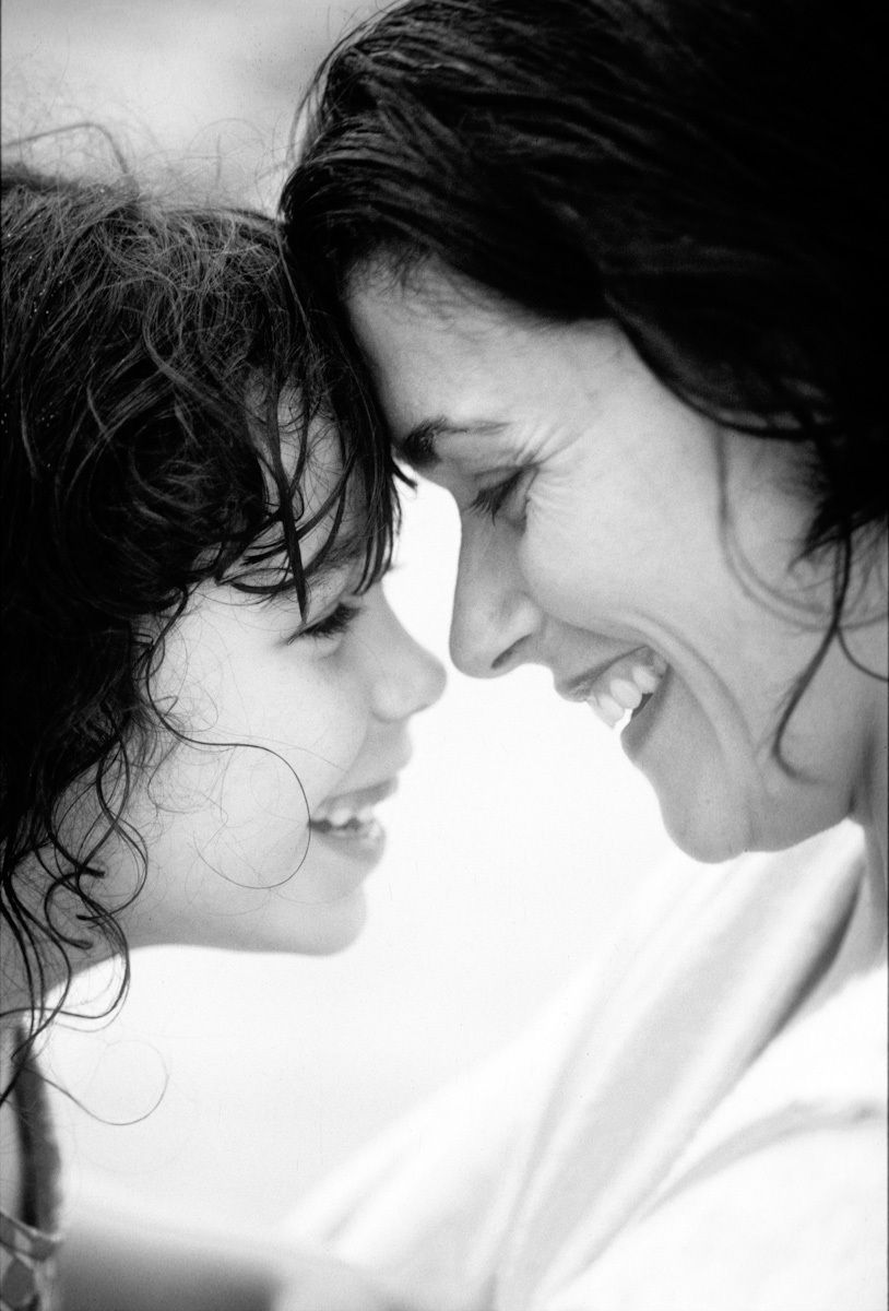 photo of mom and daughter