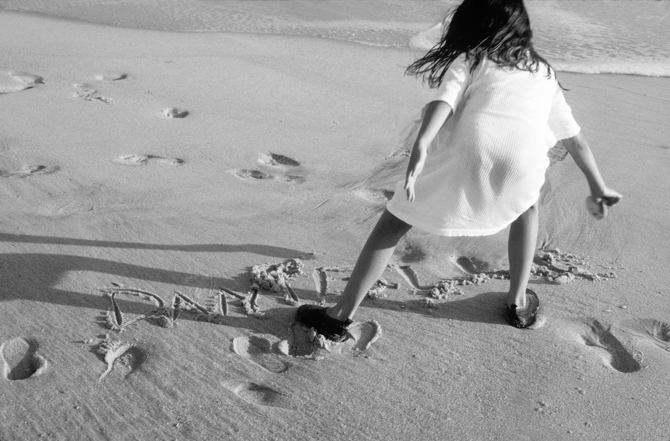 writing in the sand