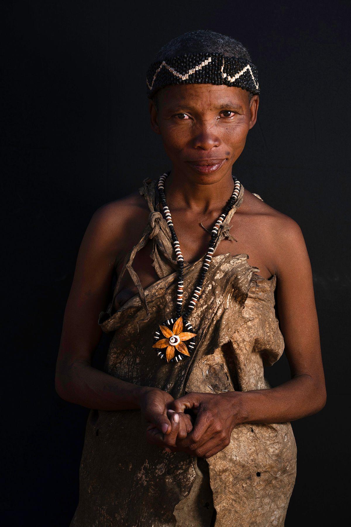 San Woman Portrait