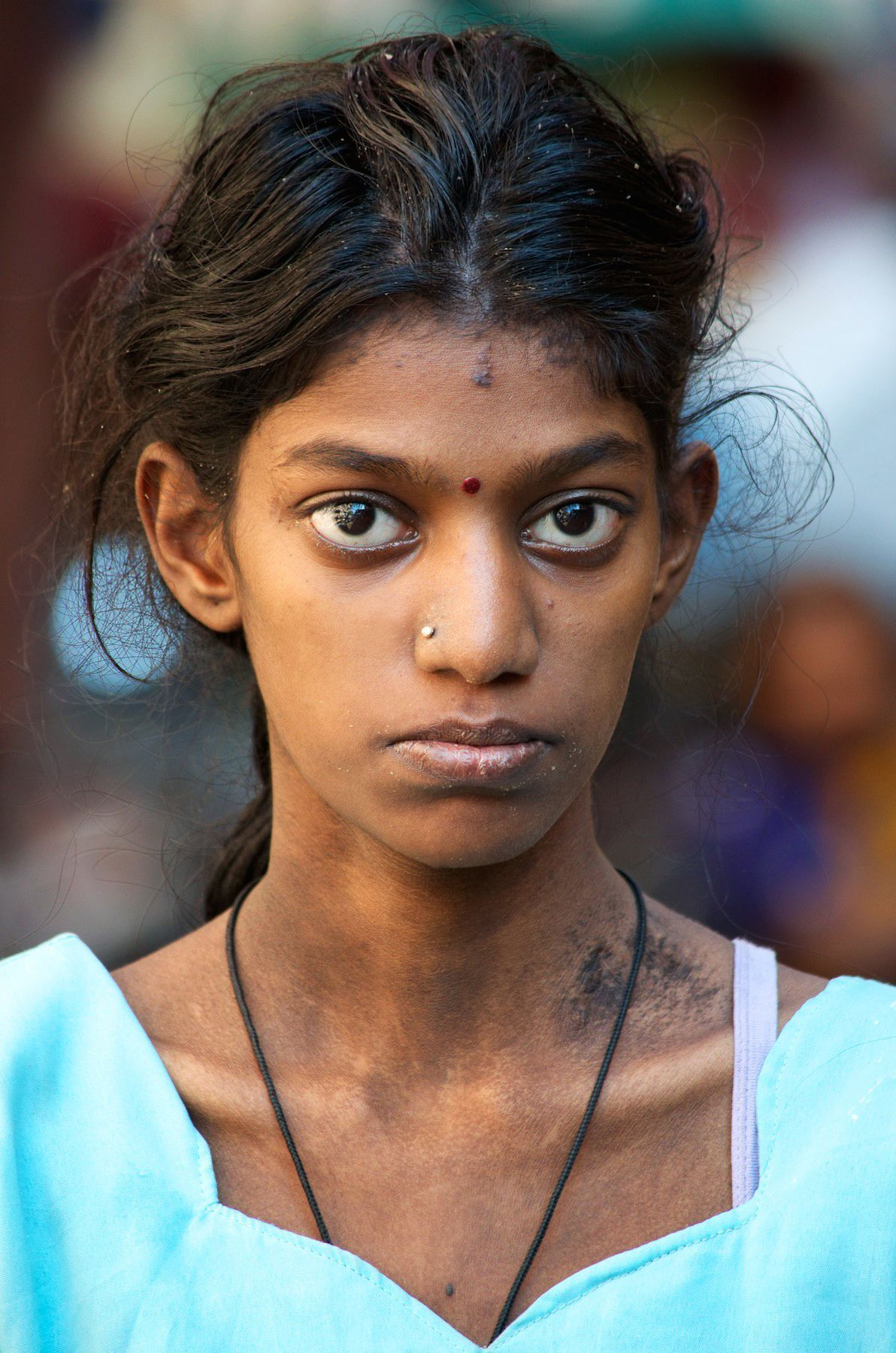 Slum girl photo