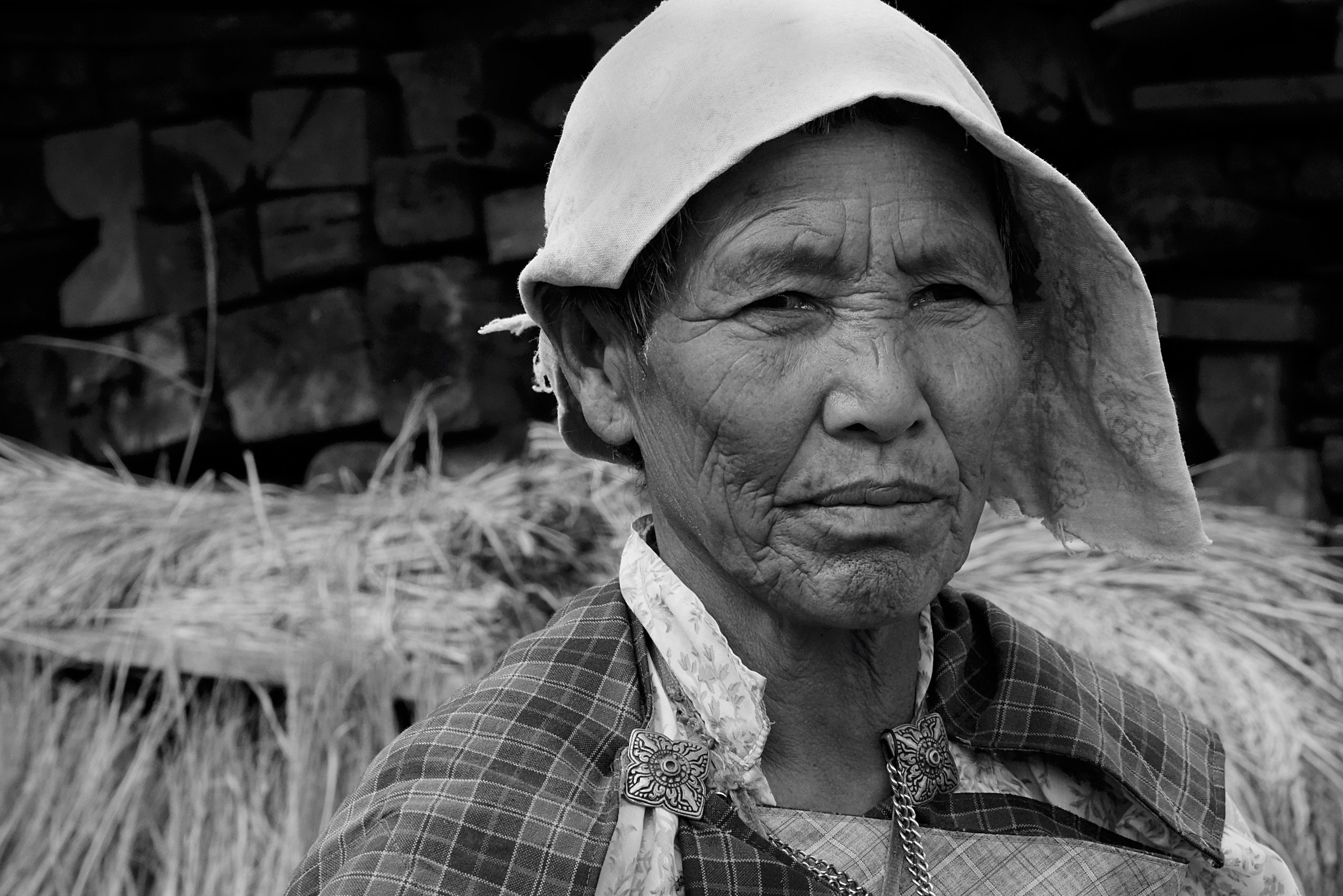 Bhutan woman in the village