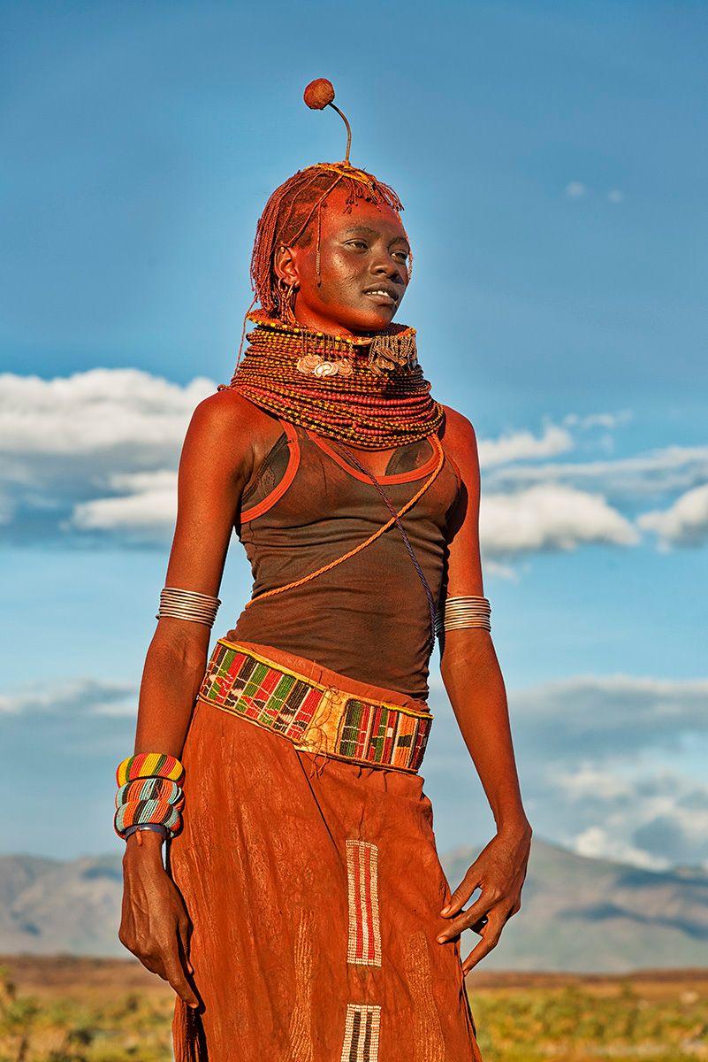 Statuesque woman