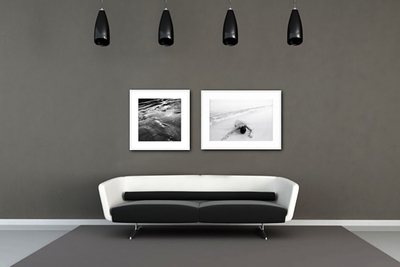 black and white wall art