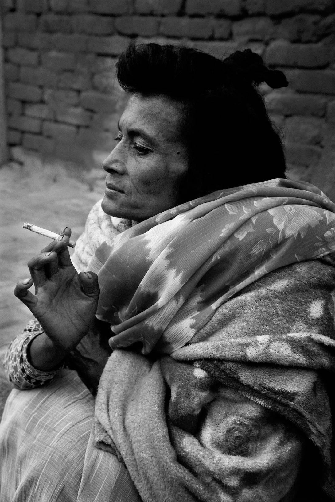 Woman Smoking A Ciggerette
