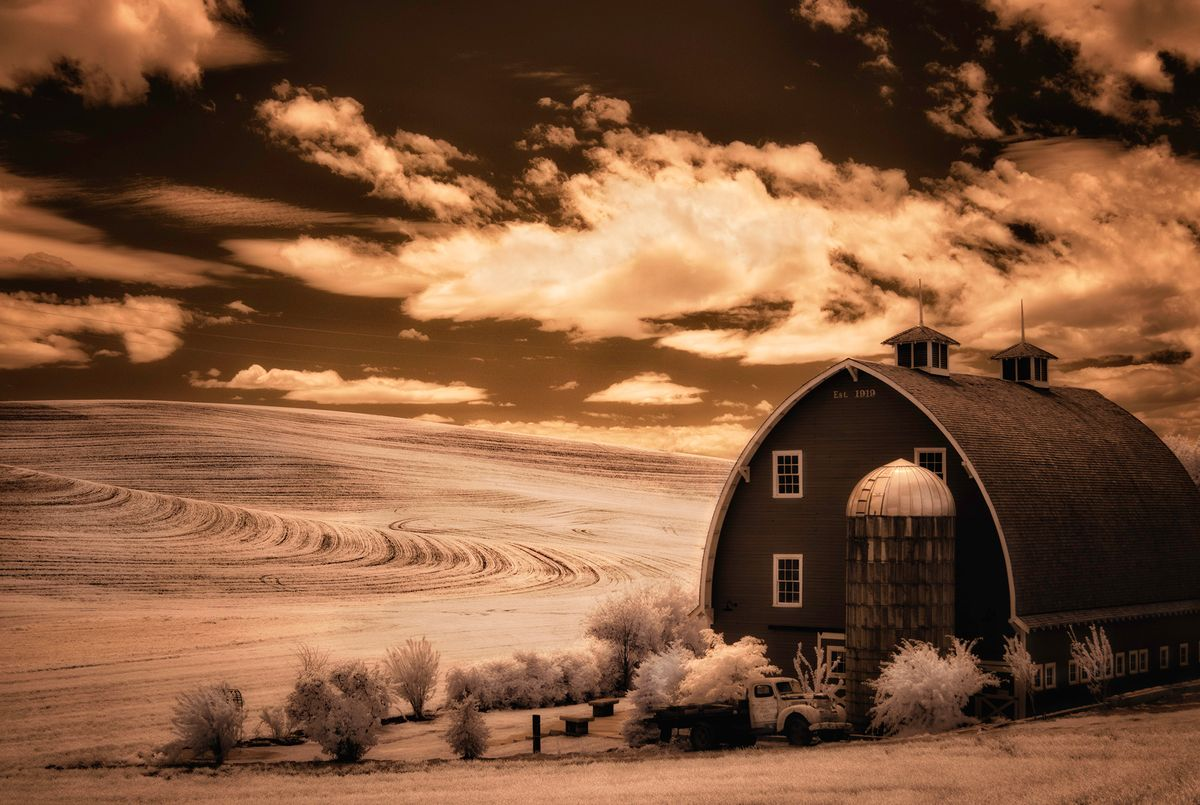 Barn with truck