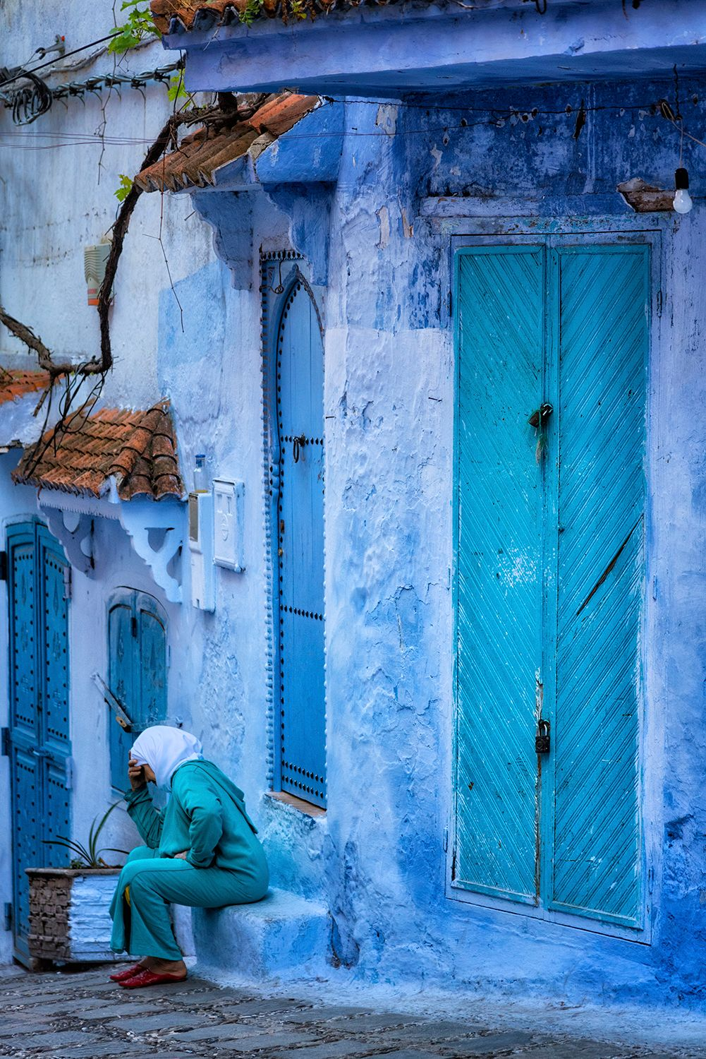 Street Life in the blue city