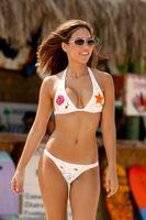 Girl walking in bikini