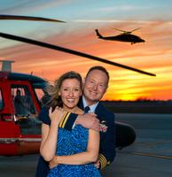 Coast Guard couple celebrating