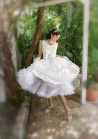Bride spinning dress
