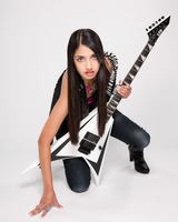 Female Rock and Roll guitar player