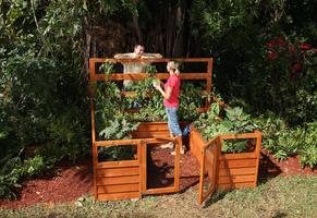 Backyard wooden garden